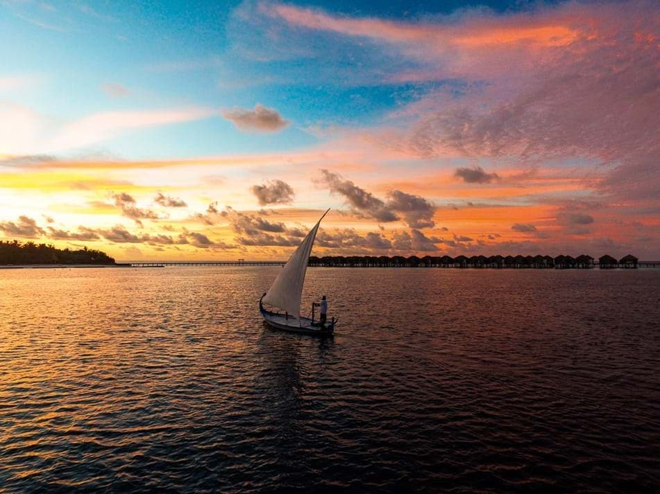 Enjoy the charm of the Maldivian sunsets