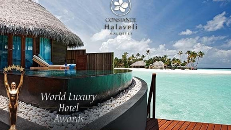 CONSTANCE HALAVELI MALDIVE È STATO PREMIATO COME VINCITORE GLOBALE AI WORLD LUXURY HOTELS AWARDS 2014