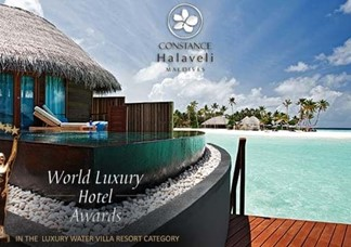 CONSTANCE HALAVELI MALDIVES AWARDED GLOBAL WINNER BY THE WORLD LUXURY HOTELS AWARDS 2014