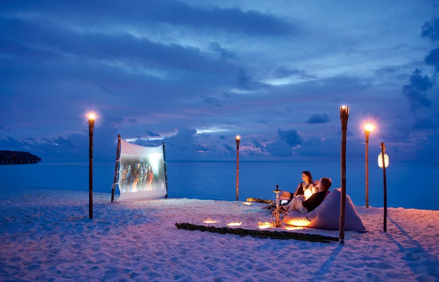 Enjoy a romantic movie under the stars