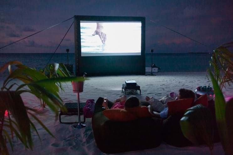 Movie on the beach – Constance Moofushi Maldives