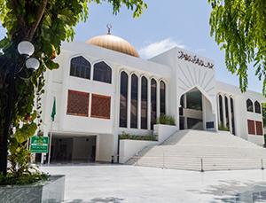 Hukuru Miski清真寺的金顶