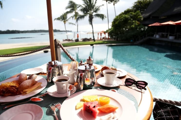 Breakfast at Constance Prince Maurice by Anni