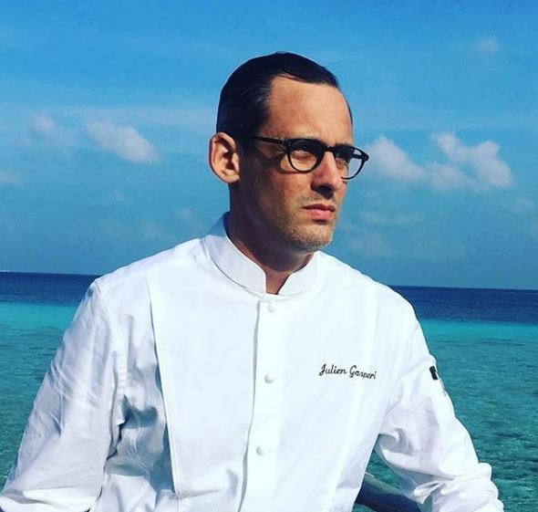 Chef Julien Gasperi at Constance Moofushi Maldives