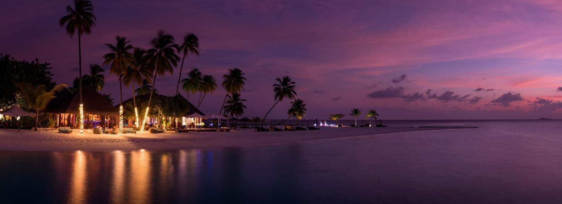 Constance Halaveli Maldives by night