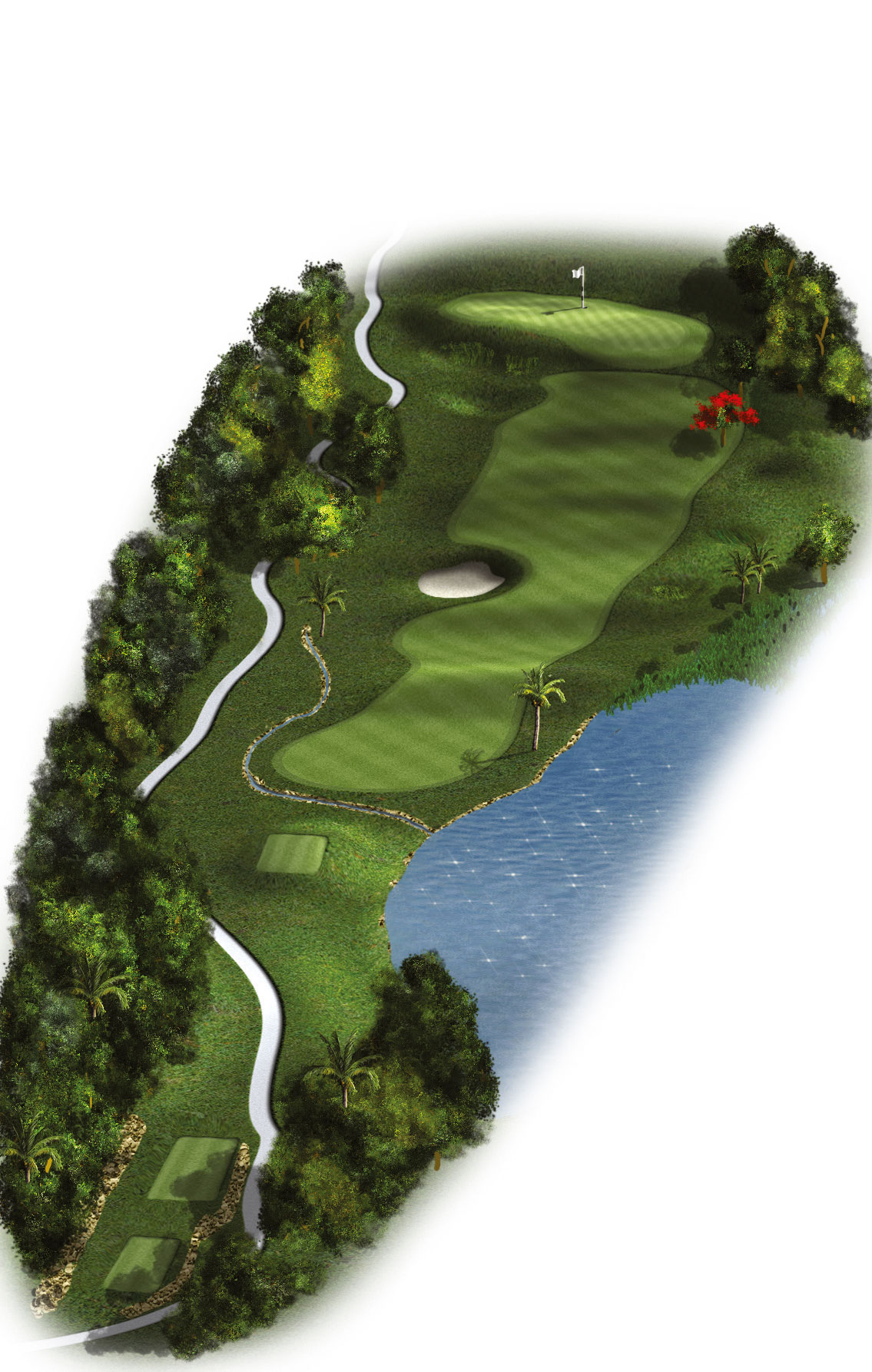13th Hole - Par 4 (308 meters/339 yards)
