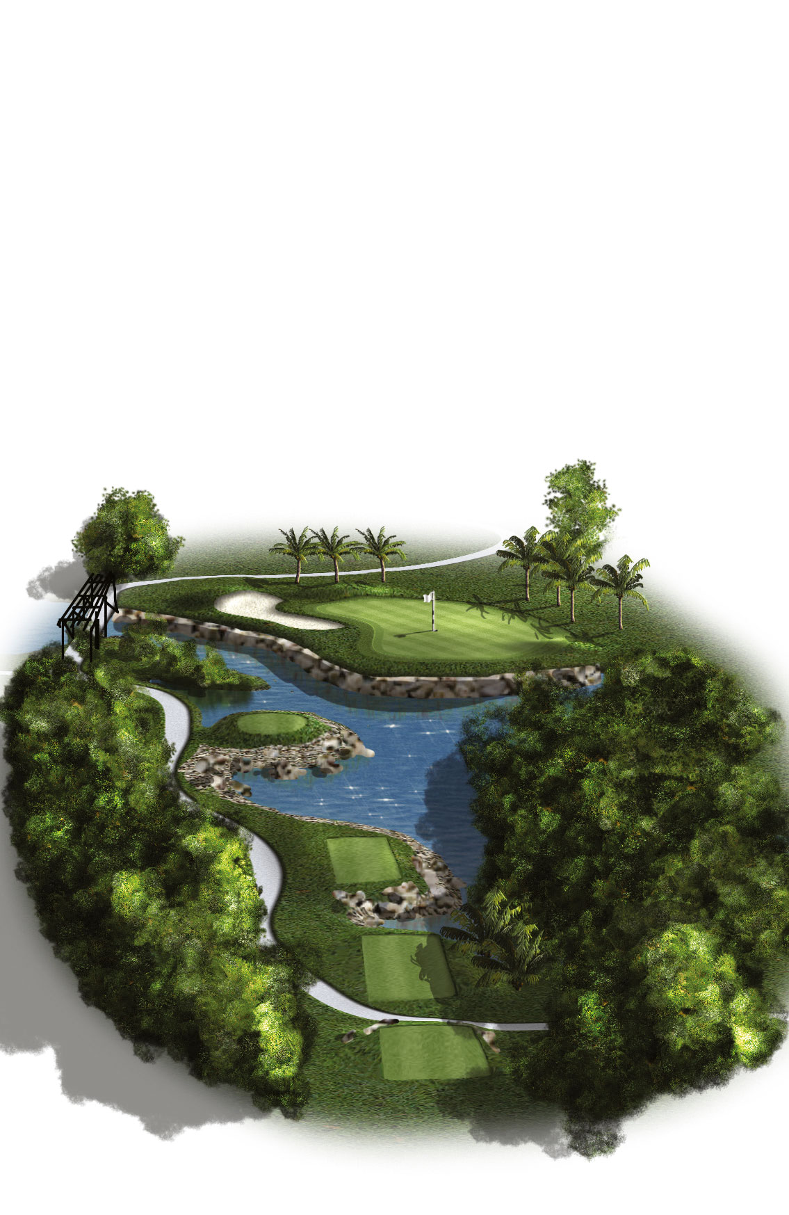8th Hole - Par 3 (183 meters/201 yards)