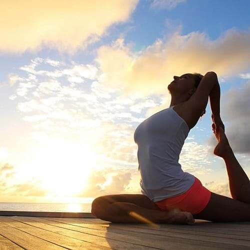 Sunset yoga session