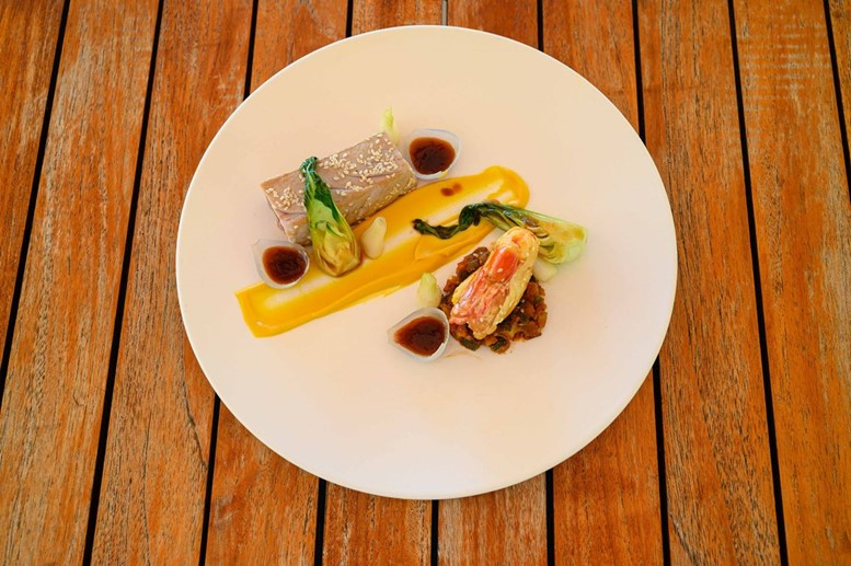 Tuna and Scampi|Constance Moofushi