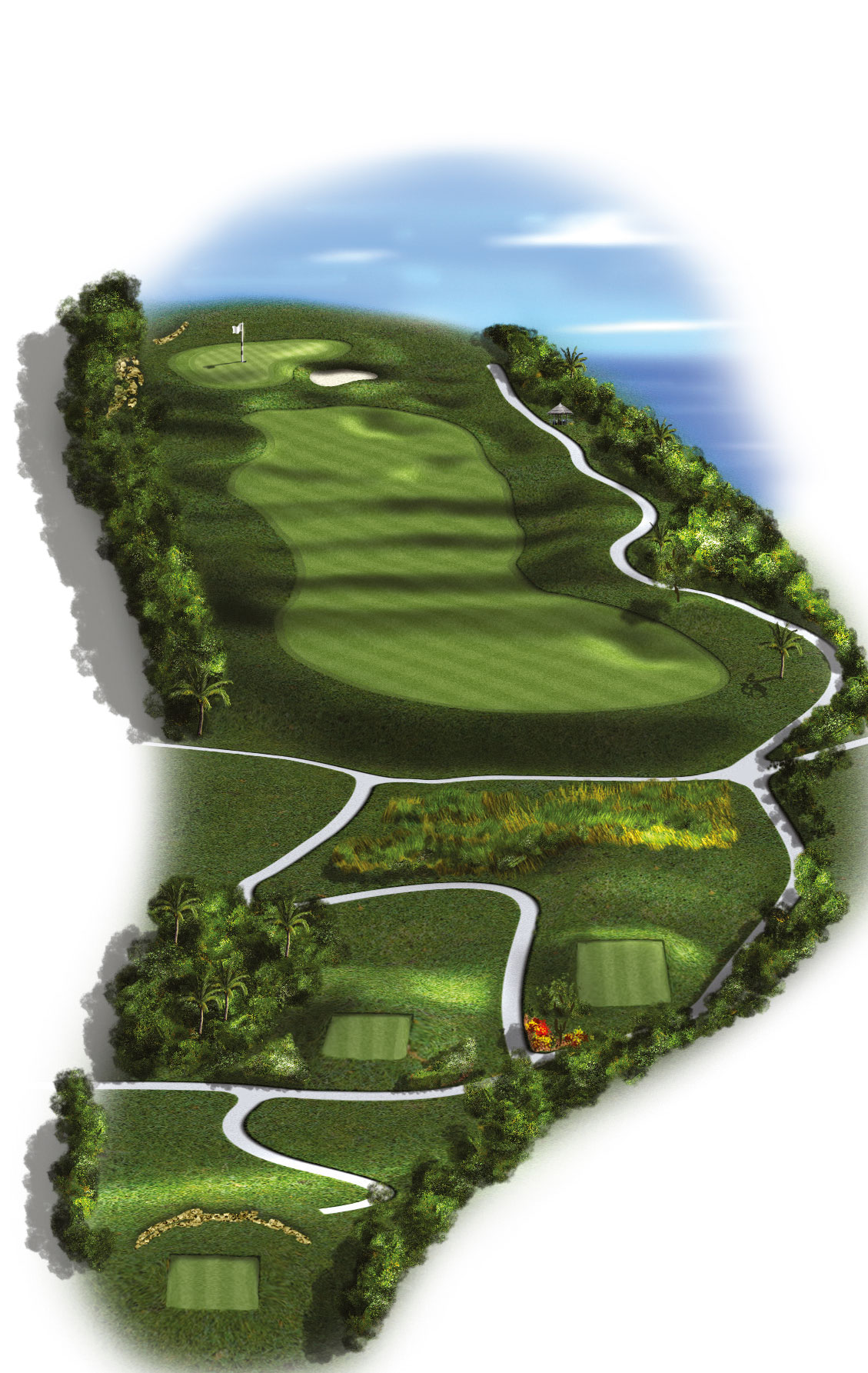 14th Hole - Par 4 (300 meters/330 yards)