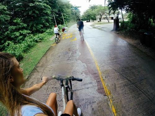 Biking in the Seychelles