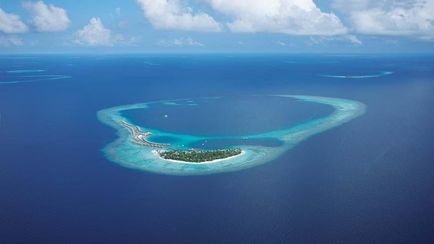 Constance Halaveli Maldives aerial view
