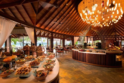 Buffet at Jahaz Restaurant- Constance Halaveli Maldives
