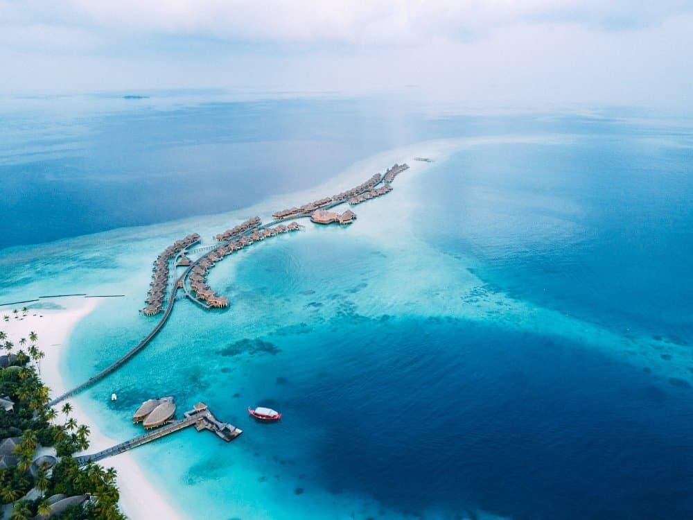 Aerial View Constance Halaveli Maldives- Sven P
