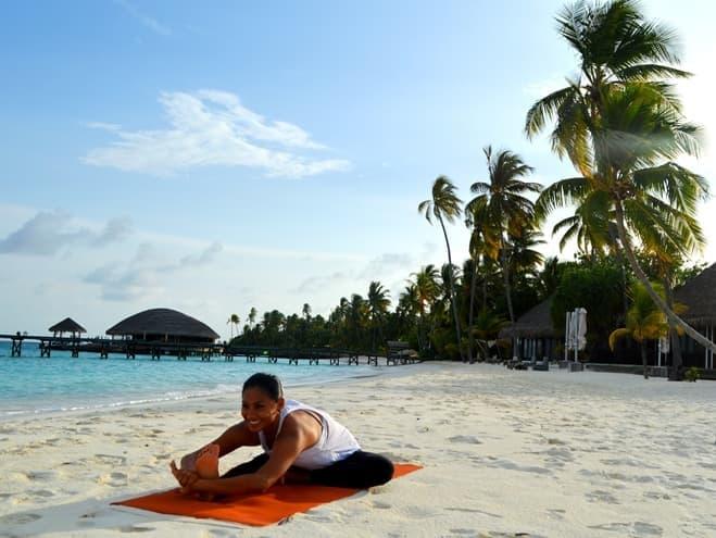 Yoga with Tiffany at Constance Halaveli